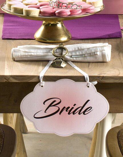 שלט למסיבת רווקות וחתונה