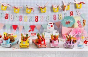 שולחן יום הולדת יוניסקס | מכוניות