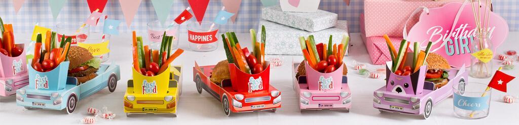 מכוניות- מגשי מזון ליום הולדת