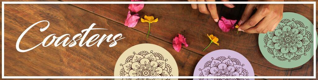 תחתיות לכוסות עיצוב שולחן