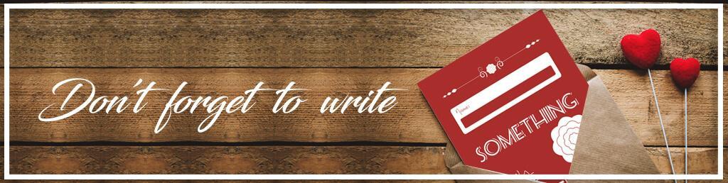 כרטיסי ברכה, אל תשכח לכתוב
