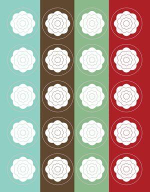 מדבקות לעיצוב פרחים לבנים
