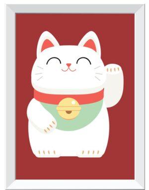 פוסטר חתול המזל