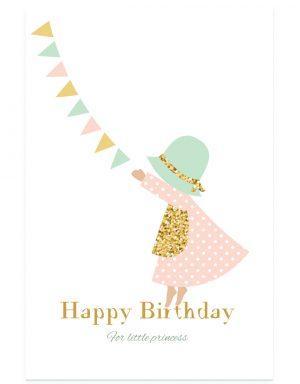 כרטיס ברכה ילדת יום הולדת