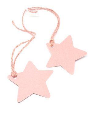 תוויות, תגיות למתנה כוכב ורוד