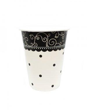 כוס שחור לבן למסיבה