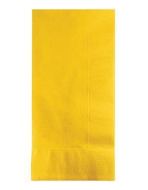 מפיות דינר בגוון צהוב חמניה