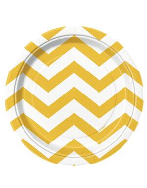 צלחות חד פעמי צהובות