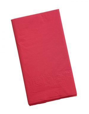 מפת שולחן מלבנית בגוון אדום