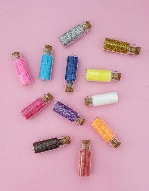 12 בקבוקי נצנצים צבעים שונים