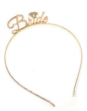 כתר למסיבת רווקות Bride בגוון זהב
