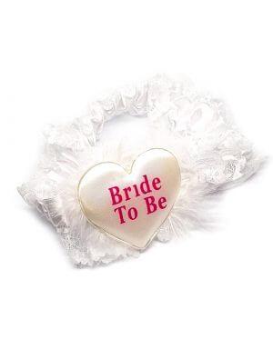 בירית למסיבת רווקות בלבן bride to be