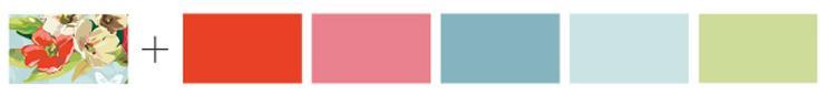 פלטת צבעים מבריידי לעיצוב שולחן ססגוני