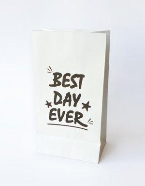 שקיות נייר למתנה או הפתעה Best day ever