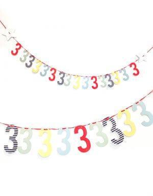 שרשרת מספרים צבעונית ליום הולדת בהזמנה אישית