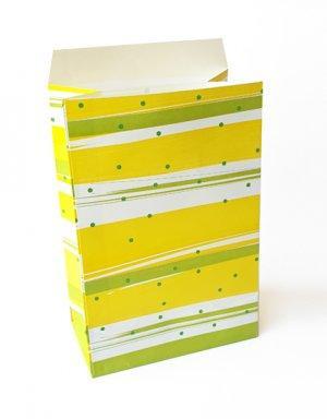 שקיות אריזה למתנה או כשקית הפתעה בגוונים של ירוק צהוב וזהב