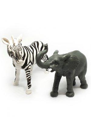 הפתעות ליום הולדת חיות- פיל וזברה