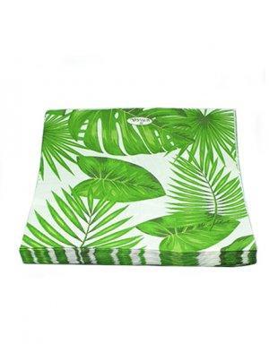 מפיות נייר בעיצוב עלים טרופיים
