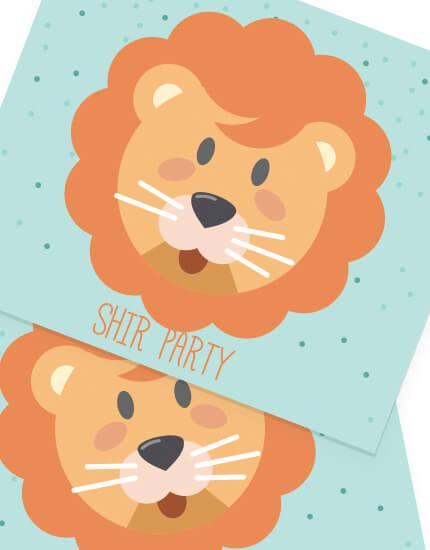 יום הולדת חיות מיתוג אישי אריה