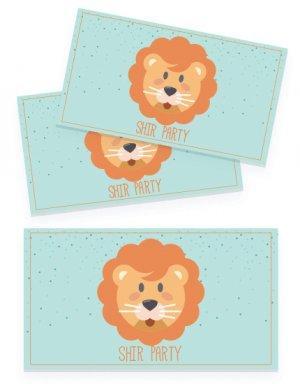 יום הולדת חיות, מדבקות לכוסות אריה