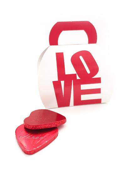 מארז שוקולדים לוולנטיין   תיק מלא באהבה