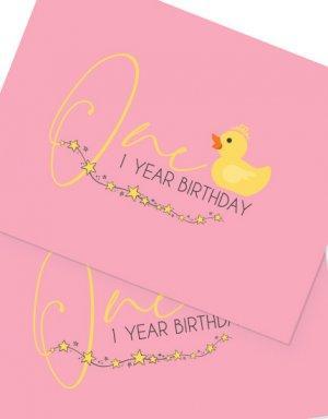 יום הולדת שנה - לולי - ברווזים , פלייסמנטים לעיצוב השולחן