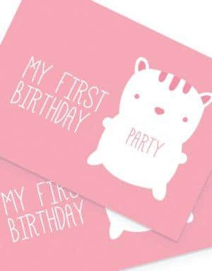יום הולדת שנה לבנות - קונספט דובי