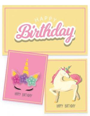 יום הולדת לבנות - קונספט חד קרן