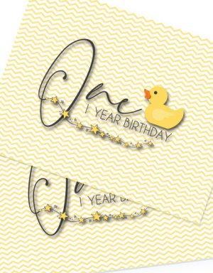 יום הולדת שנה לבנים ולבנות- לולי - ברווזים , פלייסמנטים לעיצוב השולחן