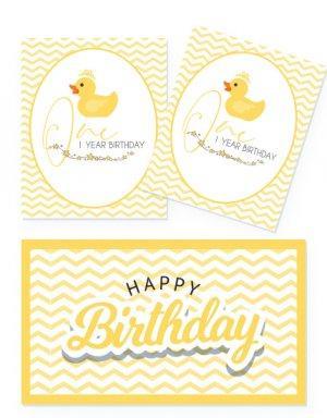 יום הולדת שנה לבנים ובנות- קונספט לולי ברווזים