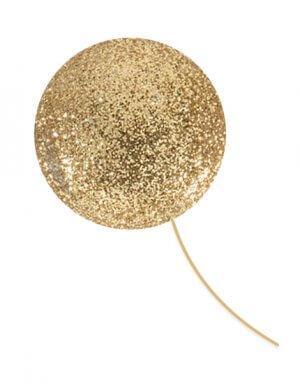בלון בועה ענק במילוי אבקת זהב - גולד