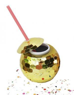 כוס כדור דיסקו בגוון זהב