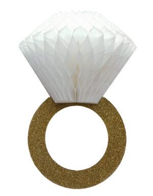 Briday טבעת נייר משי בשילוב גליטר , נפתחת לתלת מימד