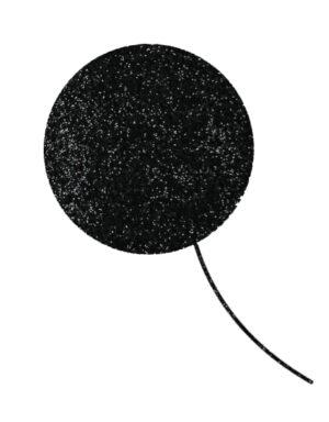 Briday בלוני בועה במילוי גליטר שחור