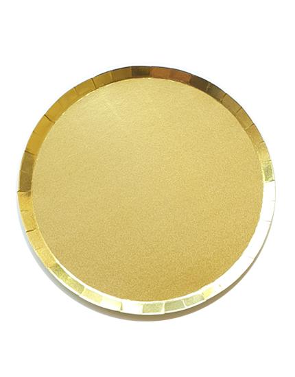 צלחות נייר זהב | עם אפקט הוליגרפי