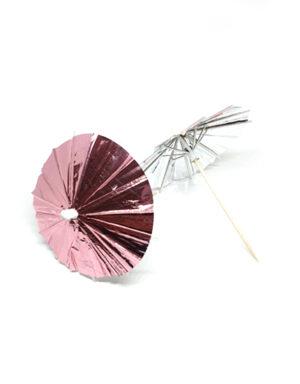 מטריות קוקטייל בעיצוב גולד רוז עם אפקט הוליגרפי