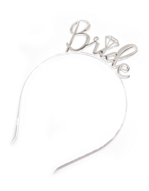 Briday קשת bride to be בצבע כסף למסיבת רווקות