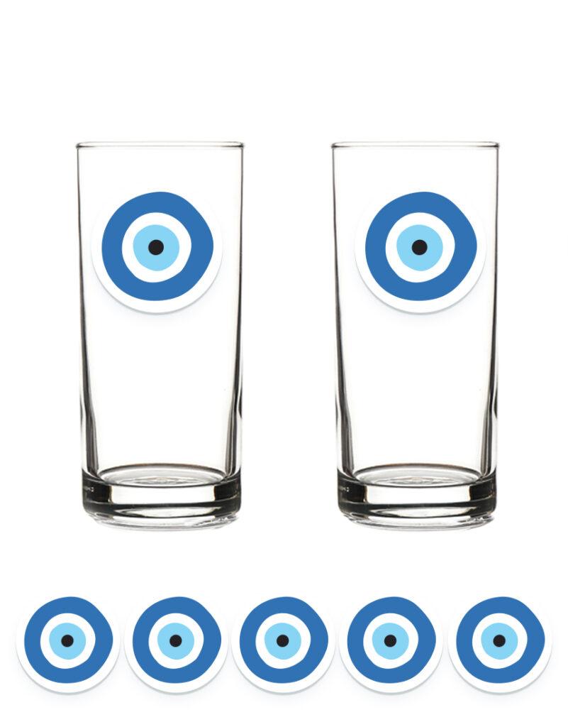 מיתוג לערב יווני עין כחולה