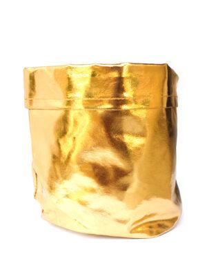 מיכל בד זהב לפיצוחים, חטיפים לשימוש כעציץ ועוד.