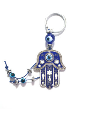 מחזיק מפתחות חמסה ועין כחולה