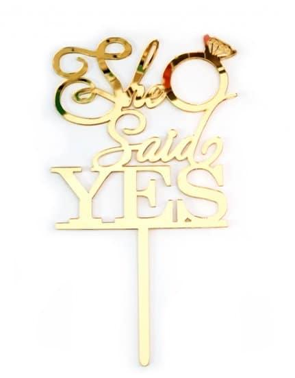 טופר למסיבת רווקות She Said Yes