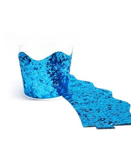חבק לקאפקייק נצנצים כחולים