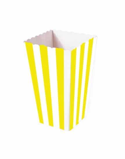 כלי הגשה פופקורן פסים צהוב