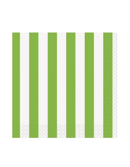 מפיות פסים ירוק ולבן