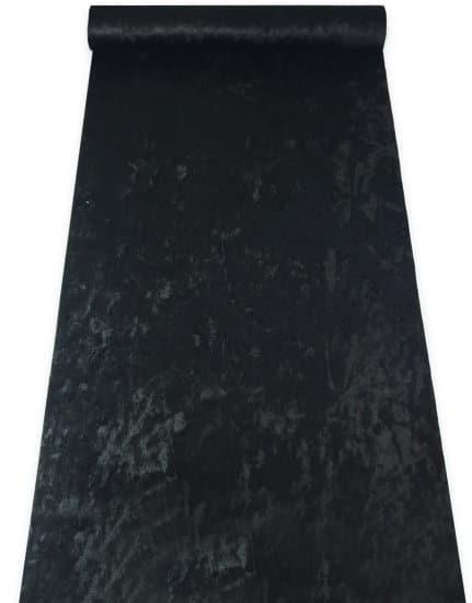 ראנר קטיפה שחור לעיצוב שולחן שחור