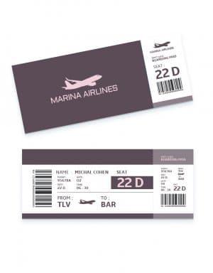 כרטיסי טיסה ממותגים לאירוע בחו״ל