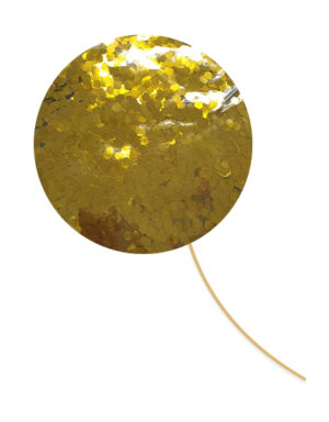 בלון בועה ענק במילוי פאייטים זהב