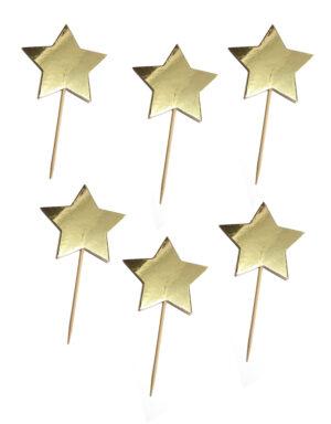 קיסמים כוכבים זהב מבריק לקאפקייקס, ימי הולדת ועוד