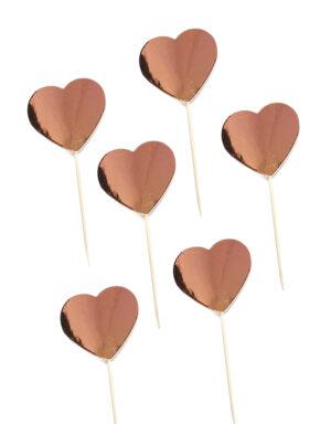 קיסמים לבבות רוז גולד לקאפקייקס, ימי הולדת ועוד