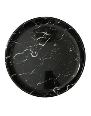 מגש פלסטיק שיש שחור קוטר 32 ס״מ
